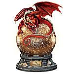 The Guardian Illuminated Mercury Ball Dragon Sculpture