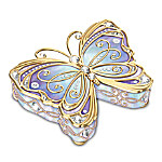 Precious Jewel To Treasure Forever Heirloom Porcelain Butterfly Music Box