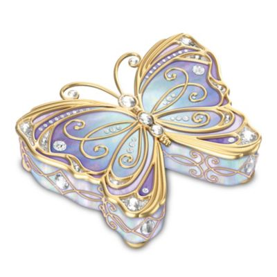 Bradford Exchange Precious Jewel To Treasure Forever Heirloom Porcelain Butterfly