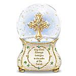 Irish Blessings Sculpted Celtic Cross Glitter Globe