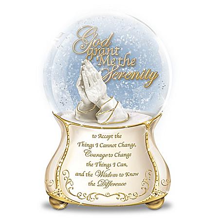 Serenity Prayer Glitter Globe