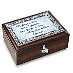 My Daughter, I Love You Personalized Birthstone Heirloom Music Box
