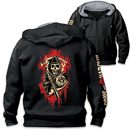 Sons Of Anarchy Men's Easy-Care Comfort Knit Hoodie