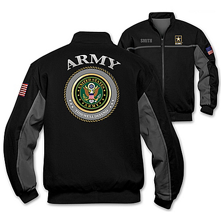 Army Salute Personalized Men's Jacket