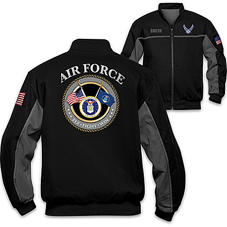 Air Force Salute Personalized Embroidered Men's Jacket