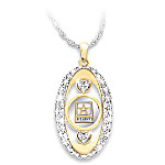 U.S. Army Pride Crystal Pendant Necklace
