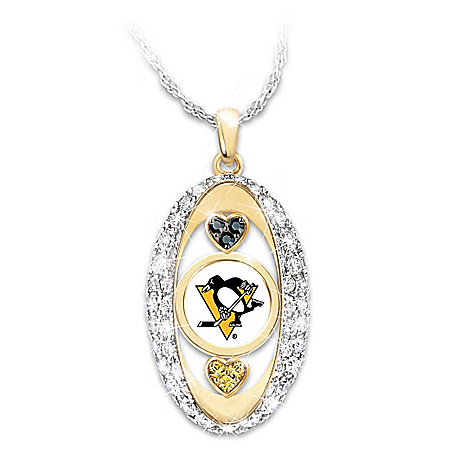 For The Love Of The Game Pittsburgh Penguins® 18K Gold-Plated Pendant Necklace