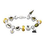 Go Iowa Hawkeyes! #1 Fan Charm Bracelet
