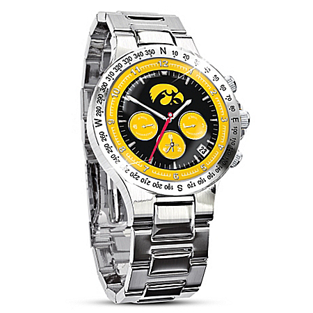 Iowa Hawkeyes Men's Collector's Chronograph Watch