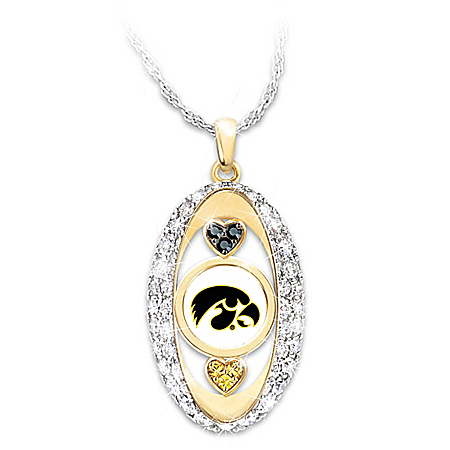 The Bradford Exchange Online - For The Love Of The Game Iowa Hawkeyes Pendant Necklace Photo