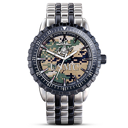 US Marine Corps Pride Men's Camo Watch