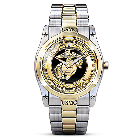 USMC Men's Stainless Steel Dress Watch