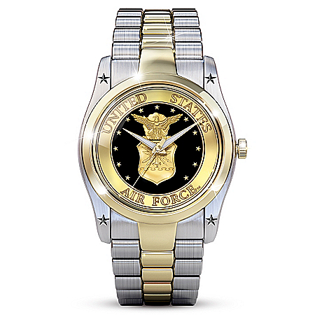Air Force Men's Dress Watch With A Diamond