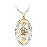 My Firefighting Hero Tribute Women's Swarovski Crystal Pendant Necklace