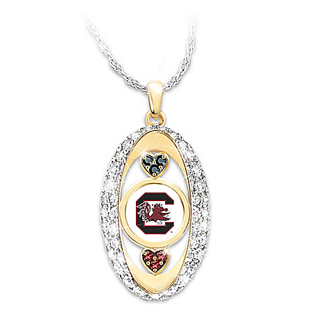 The Bradford Exchange Online - For The Love Of The Game South Carolina Gamecocks Pendant Necklace Photo
