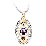 For The Love Of The Game Washington Nationals Women's MLB Pendant Necklace