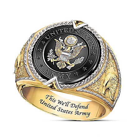 This We'll Defend Men's U.S. Army Tribute Ring