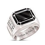My Grandson, My Pride, My Joy Personalized Ring