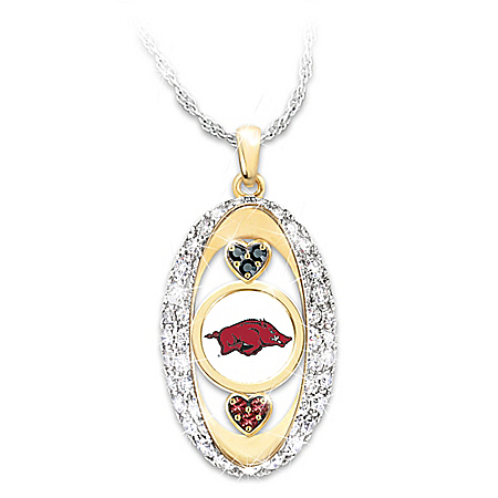 For The Love Of The Game Arkansas Razorbacks Pendant Necklace