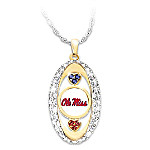 For The Love Of The Game Mississippi Rebels Pendant Necklace