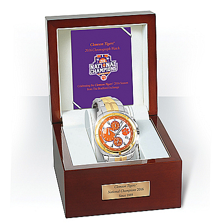 2016 National Champions Clemson Tigers Commemorative Stainless Steel Men's Watch
