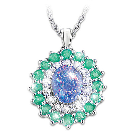 Alfred Durante Opal Island Women's Gemstone Pendant Necklace