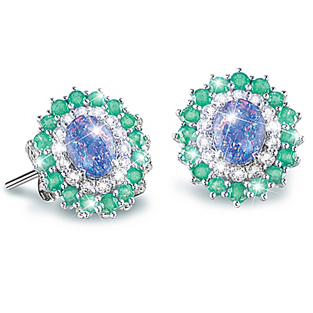 Alfred Durante Opal Island Women's Gemstone Earrings