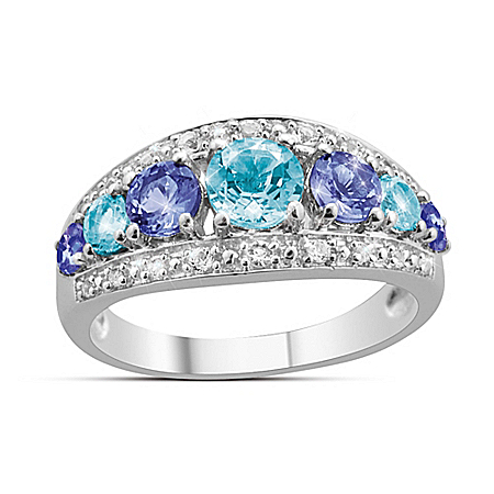 Aquamarine & Tanzanite Fantasy Ring