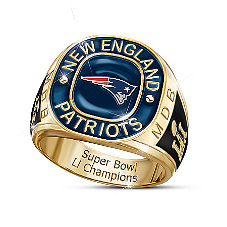 New England Patriots NFL Super Bowl Champions Personalized Ring