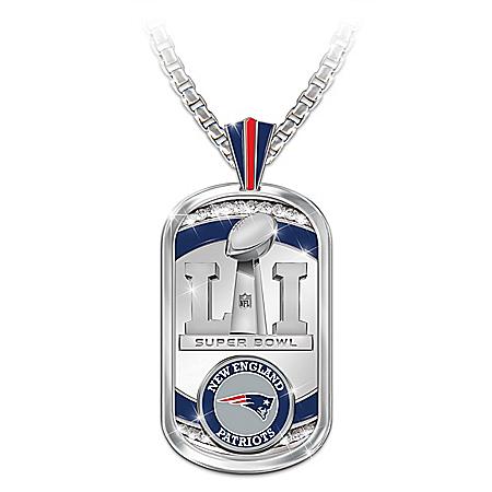 New England Patriots NFL Super Bowl LI Champions Dog Tag Pendent Necklace