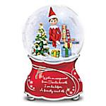 The Elf On The Shelf Christmas Musical Glitter Globe