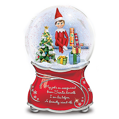 The Elf On The Shelf Christmas Musical Glitter Globe