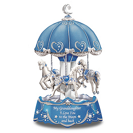 Carousel Music Box with Sentiment for Granddaughter Lights Up: Bradford Exchange