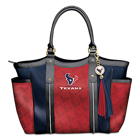 NFL Touchdown Houston Texans! Women's Shoulder Tote Bag