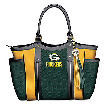 Touchdown Green Bay Packers! NFL Shoulder Tote Bag