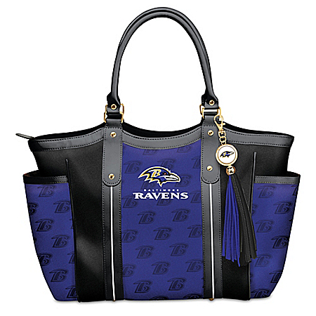 Touchdown Baltimore Ravens! NFL Shoulder Tote Bag