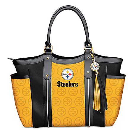 Touchdown Pittsburgh Steelers! NFL Shoulder Tote Bag