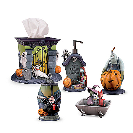Disney Tim Burton's The Nightmare Before Christmas Bath Ensemble Accessories Set