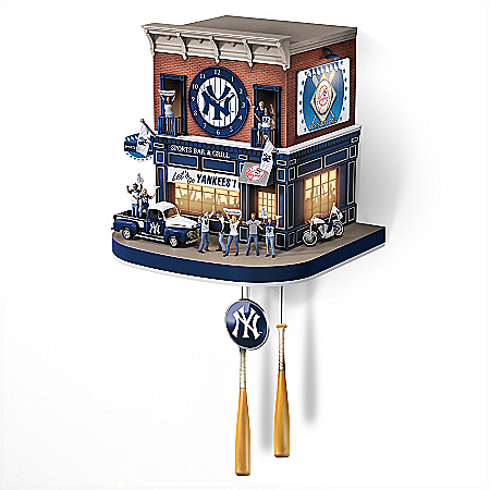 New York Yankees Fan Celebration MLB Cuckoo Clock