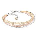 Starry Night Mesh Heart Charm Bracelet