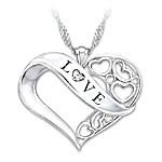 Love Granddaughter Diamond Pendant Necklace
