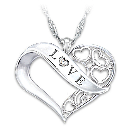 Love Granddaughter Diamond Pendant Necklace