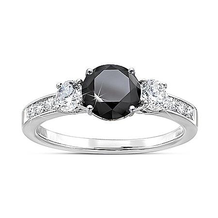 Black Brilliance Diamonesk Ring