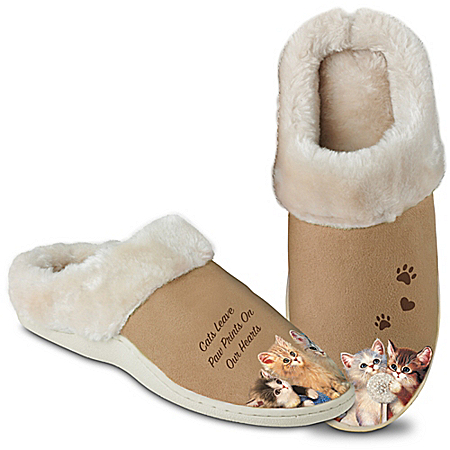 Feline Fun Women's Cat Art Slippers