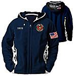 USMC Semper Fi Personalized Men's Fashionable Hooded Fleece Jacket