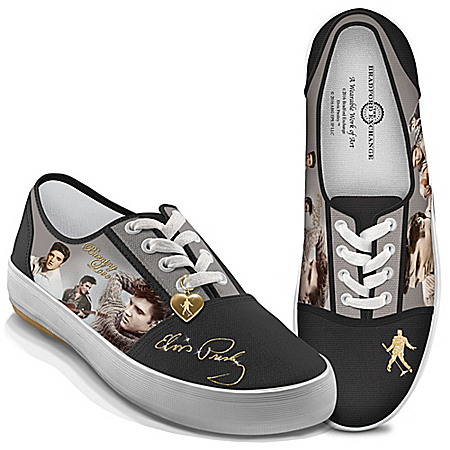 Burning Love Elvis Presley Women's Canvas Shoes