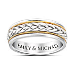 Strength Of Love Men's Stainless Steel Personalized Ring