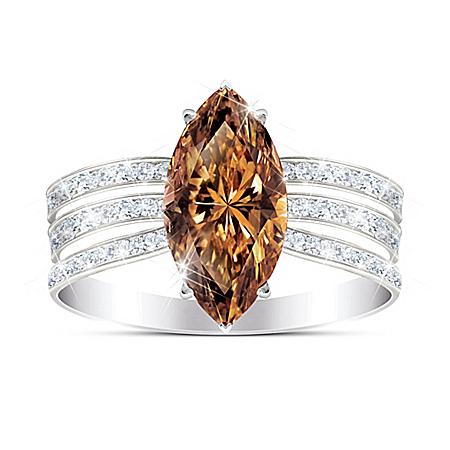 Diva Diamonesk Sterling Silver Women's Ring