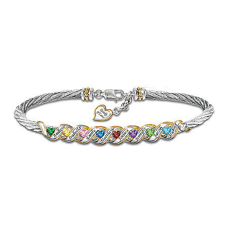 Family Is Forever Personalized Birthstone Bracelet – Personalized Jewelry