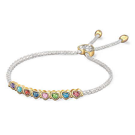 The Heart Of Our Family Personalized Birthstone Bracelet – Personalized Jewelry
